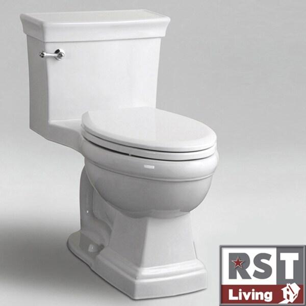 RST Living Icera Julian Elongated One-piece White Toilet