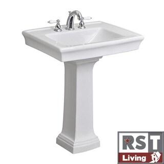 RST Living Icera Julian White Pedestal Lavatory