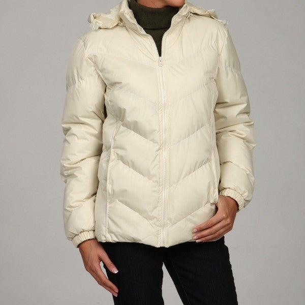 Women's Chevron Bubble Hooded Coat
