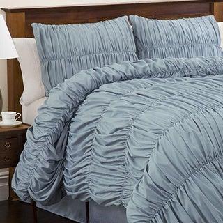 Lush Decor Blue Venetian 4 Piece Full Size Comforter Set