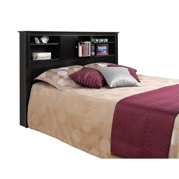 Merveilleux Nicola Black Full/Queen Size Storage Headboard