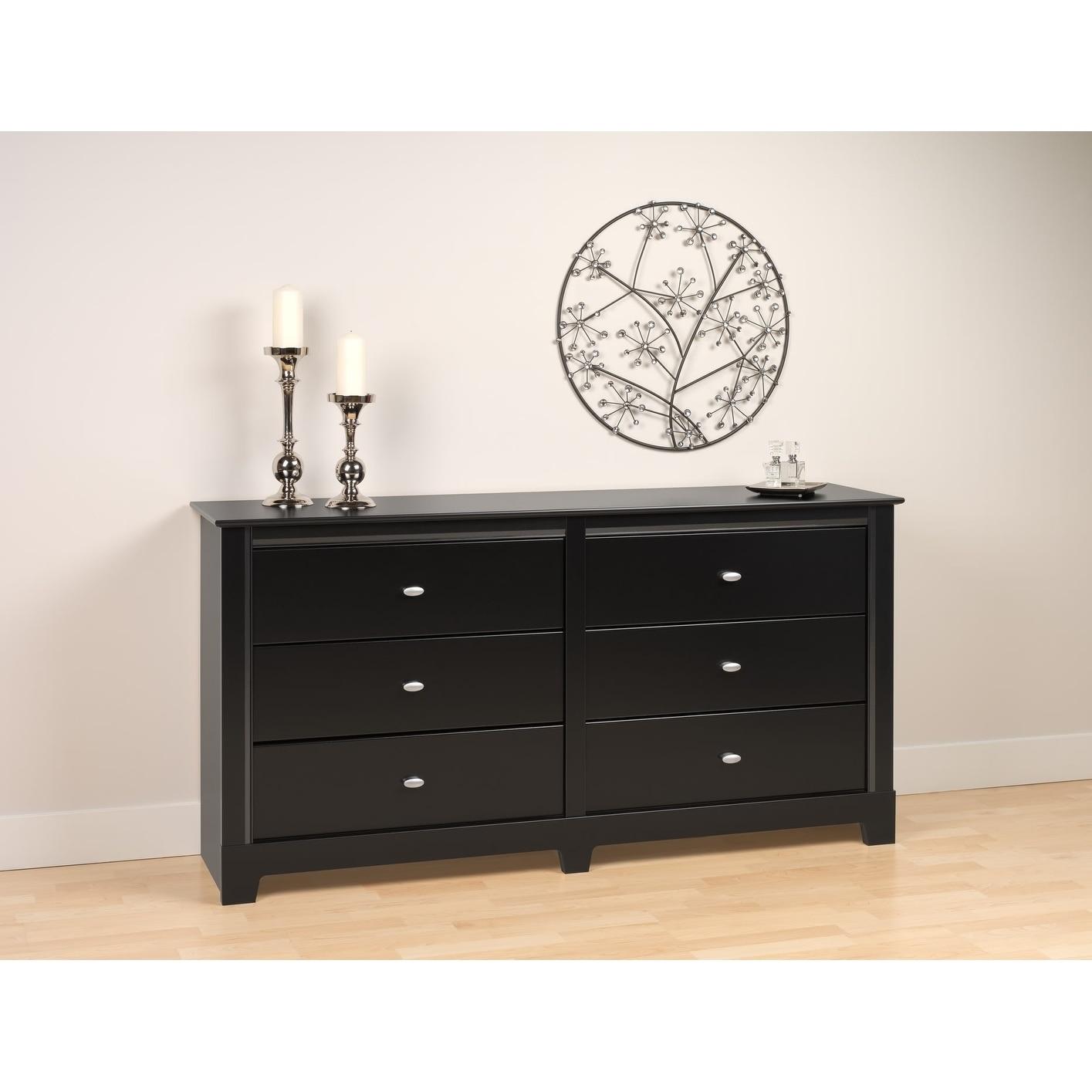 Prepac Nicola Black 6-drawer Dresser