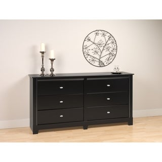 Nicola Black 6 Drawer Dresser