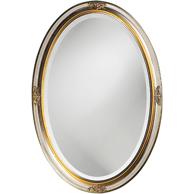 Banks Silver Leaf and Gold Rim Mirror
