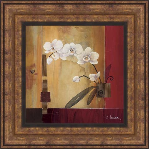 "Don Li-Leger ""Orchid Lines II"" Framed Print Art"