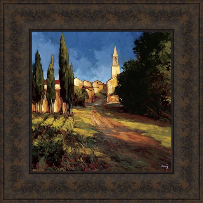 Philip Craig 'Pathway to the Villa' Framed Print Art
