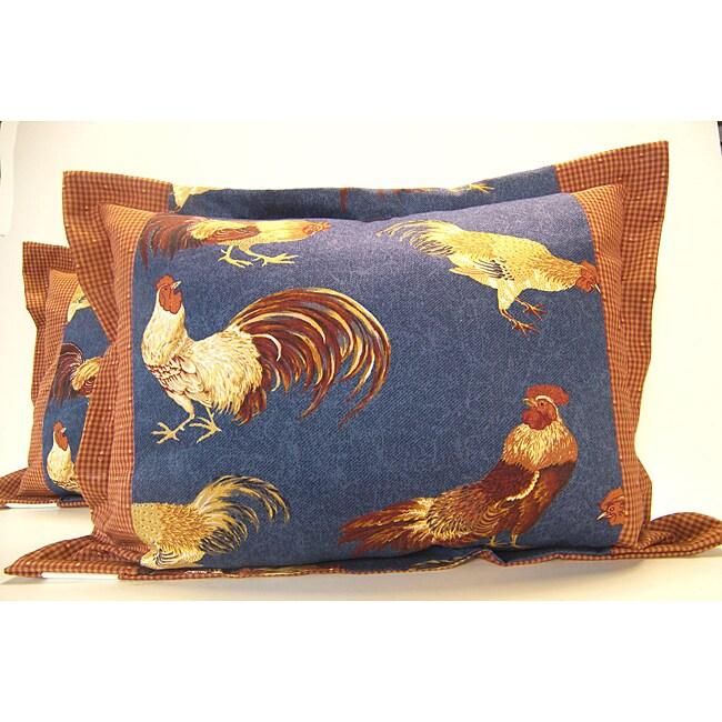 Cockadoodle Flange Pillows (Set of 2)