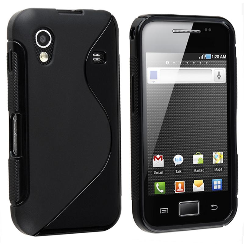 Black TPU Rubber Case for Samsung Galaxy Ace GT-S5830