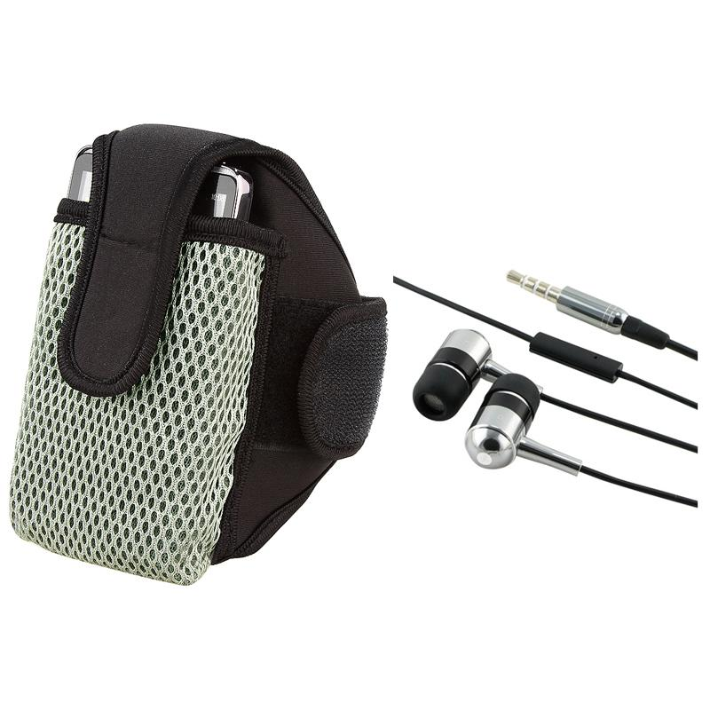 INSTEN Universal Black Armband with 3.5mm In-ear Stereo Headset