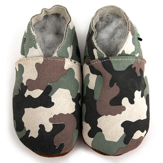 Camouflage Soft Sole Leather Baby Shoes