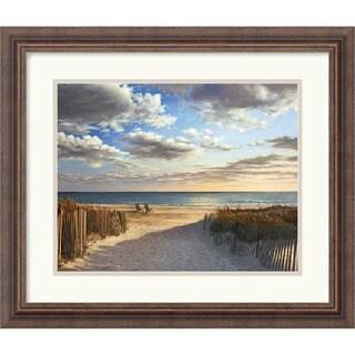 Framed Art Print 'Sunset Beach' by Daniel Pollera 21 x 18-inch