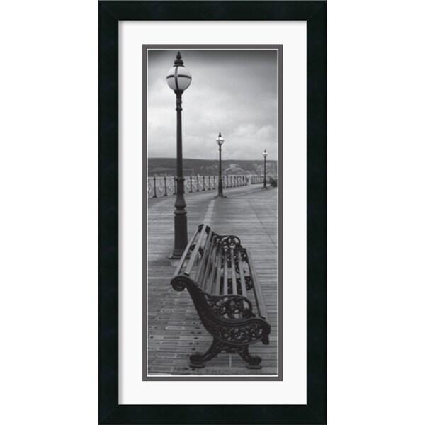 Bench on the Boardwalk' 14 x 26-inch Framed Art Print