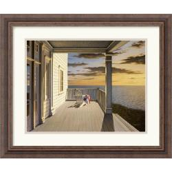 Daniel Pollera 'Last Light' 21 x 18-inch Framed Art Print