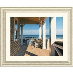 Daniel Pollera 'Nantucket Shore' 33 x 27-inch Framed Art Print