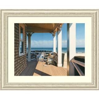 Framed Art Print 'Nantucket Shore' by Daniel Pollera 33 x 27-inch
