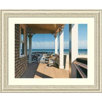 Framed Art Print 'Nantucket Shore' by Daniel Pollera 33 x 27-inch