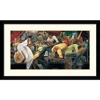 Frank Morrison 'Red Hot on Cool' 43 x 25-inch Framed Art Print