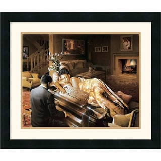 Framed Art Print 'Sonata' by Edward Clay Wright 22 x 19-inch