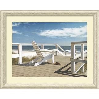Daniel Pollera 'Sun Deck' Framed Art Print 42 x 34-inch
