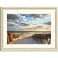 Framed Art Print 'Sunset Beach' by Daniel Pollera 45 x 34-inch