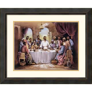 Framed Art Print 'The Last Supper' by Quintana 35 x 29-inch|https://ak1.ostkcdn.com/images/products/6112996/Quintana-The-Last-Supper-Framed-Art-Print-P13779128.jpeg?impolicy=medium