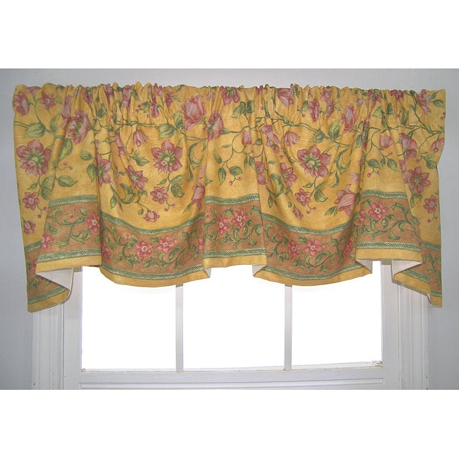 French Country Austrian Gold Floral Valance