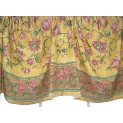 French Country Austrian Gold Floral Valance - Thumbnail 1