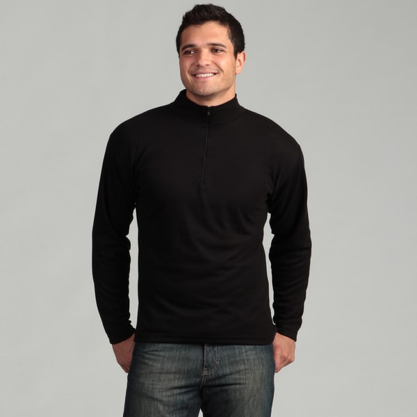 Kenyon Men's Black Zip-neck Midweight Thermal Top