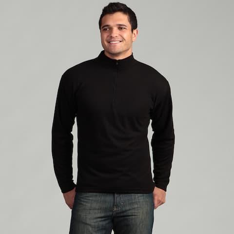 Kenyon Men's Black Zip-neck Midweight Thermal Top