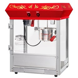 Great Northern 6131 Popcorn All Star Countertop Red Popcorn Machine - Thumbnail 0