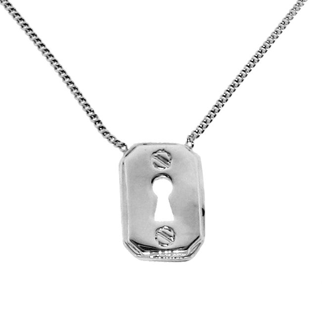 Sterling Silver Pad Lock Necklace