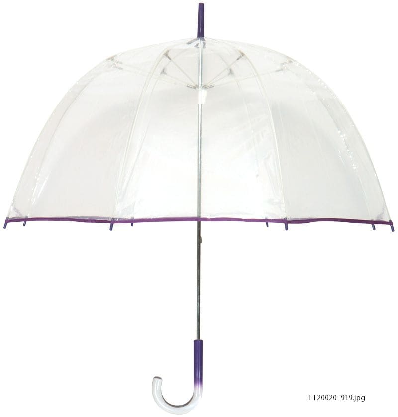 Tina T Bubble Clear/ Purple Umbrella