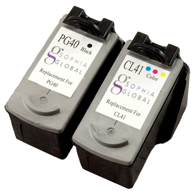 Sophia Global PG-40 Black, CL-41 Color Ink Cartridges (Pack of 2)(Refurbished)