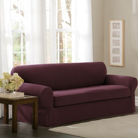 """Maytex Stretch 2 Piece Pixel Sofa Slipcover / Furniture Cover - 74-96"""" wide/34"""" high/38"""" deep"""