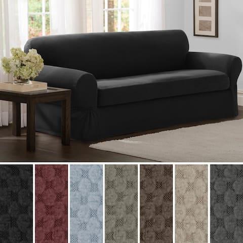 Maytex Stretch 2 Piece Pixel Sofa Slipcover / Furniture Cover