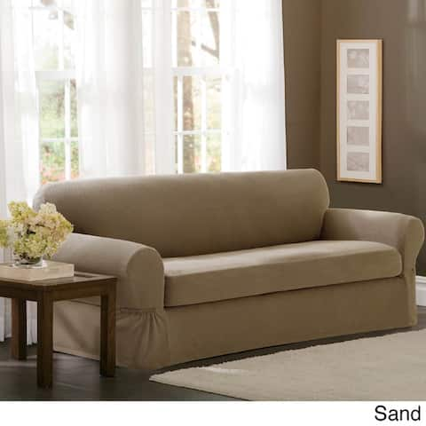 Maytex Stretch 2 Piece Pixel Sofa Slipcover / Furniture Cover