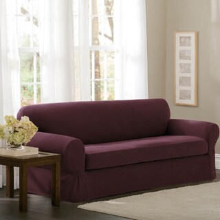 "Maytex Stretch 2 Piece Pixel Sofa Slipcover / Furniture Cover - 74-96"" wide/34"" high/38"" deep"