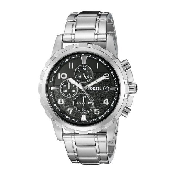b9fbd045f0f Shop Fossil Men s FS4542  Dean  Stainless Steel Chronograph Watch ...