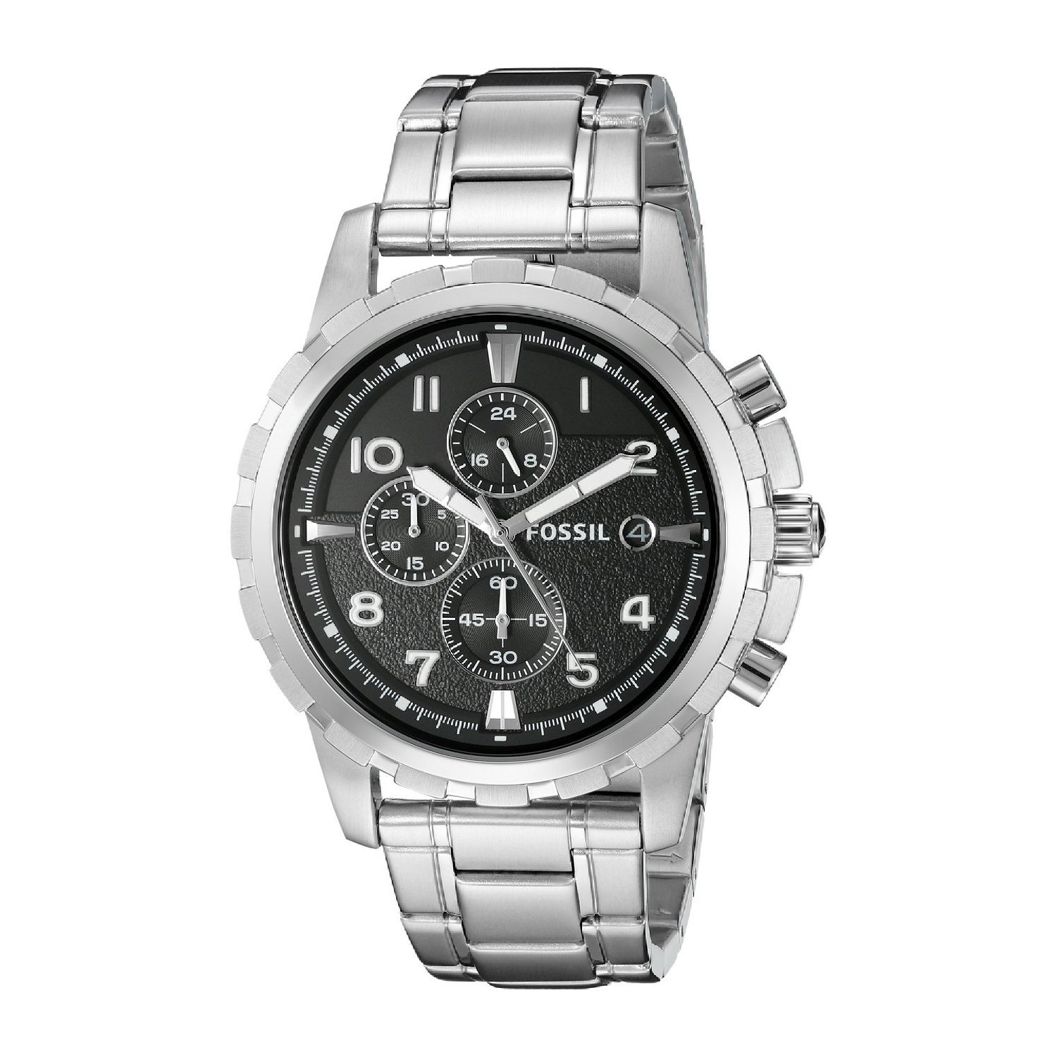 Fossil Men's FS4542 'Dean' Stainless Steel Chronograph Wa...