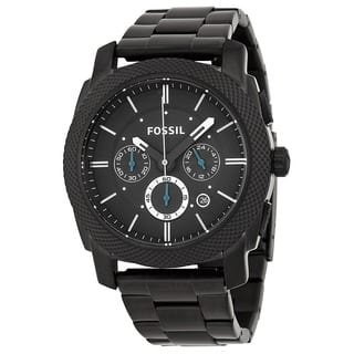 Fossil Men's 'Machine' Black Stainless Steel Chronograph Watch|https://ak1.ostkcdn.com/images/products/6113374/P13779390.jpg?impolicy=medium