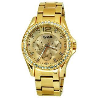 Fossil Women's 'Riley' Multifunction Rose Goldtone Glitz Watch|https://ak1.ostkcdn.com/images/products/6113389/P13779399.jpg?impolicy=medium