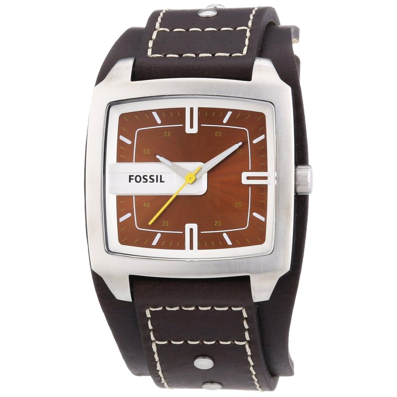 Fossil Men's JR9990 'Trend' Brown Leather Watch (DE5002),...