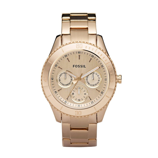 Fossil Women's 'Stella' Multifunction Rose-goldtone Dial Watch
