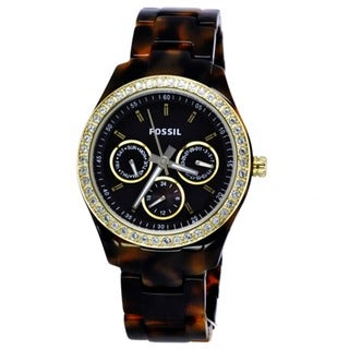 Fossil Women's ES2795 'Stella' Multifunction Brown Dial Tortoise Watch