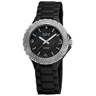 Burgi Women's Diamond Ceramic Black Quartz Watch|https://ak1.ostkcdn.com/images/products/6113429/Burgi-Womens-Diamond-Ceramic-Mother-of-Pearl-Black-Quartz-Watch-P13779437.jpg?impolicy=medium