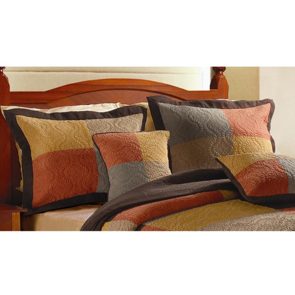 Greenland Home Fashions Tralafgar Quilted King-size Shams (Set of 2)