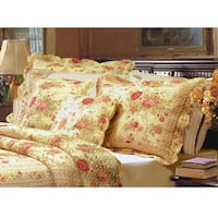 Greenland Home Fashions Antique Rose Quilted King-size Shams (Set of 2)