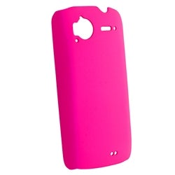 Hot Pink Rubber Coated Case for HTC Sensation 4G/ Pyramid/ Z710e