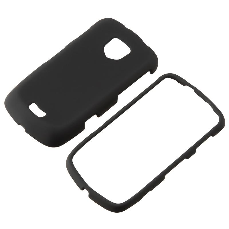 Black Rubber Coated Case for Samsung Droid Charge SCH i510