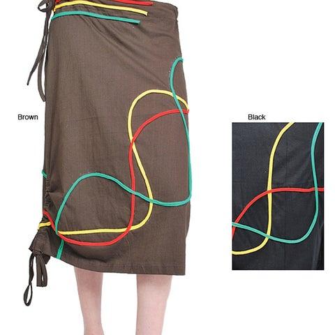 Handmade Lakhays Rasta Swirl Skirt (Nepal)